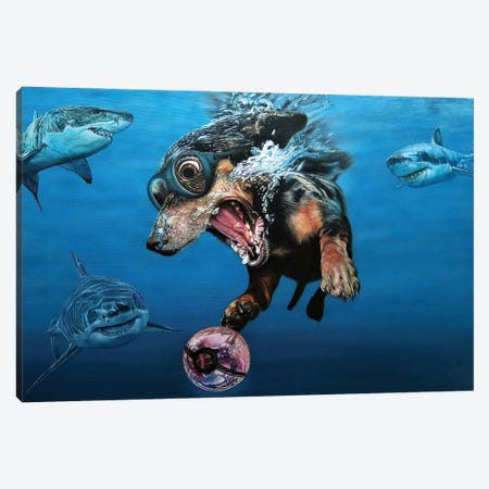 Catch Me If You Can Canvas Print #BLO76} by J.Bello Studio Canvas Art