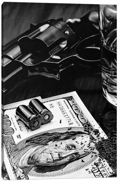 Wild West I Black And White Canvas Art Print
