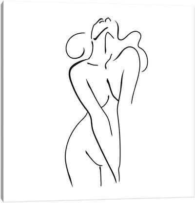 Femme №39 Square Canvas Art Print
