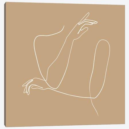 Femme №41 Square Canvas Print #BLP107} by Blek Prints Canvas Wall Art