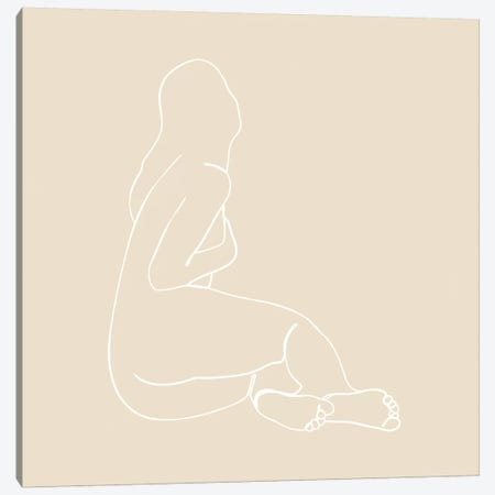 Femme №42 Square Canvas Print #BLP109} by Blek Prints Canvas Art Print