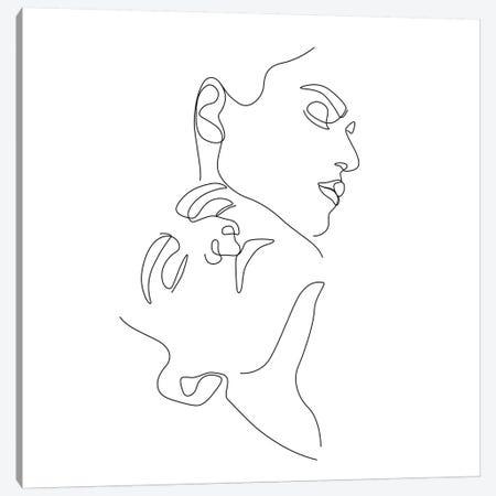 Love №2 Square Canvas Print #BLP121} by Blek Prints Canvas Art Print