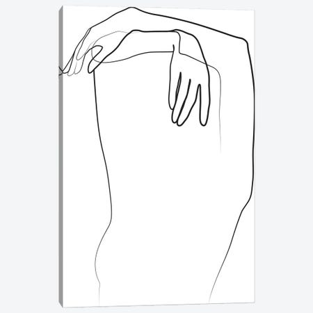 Abstract Hands Canvas Print #BLP168} by Blek Prints Art Print