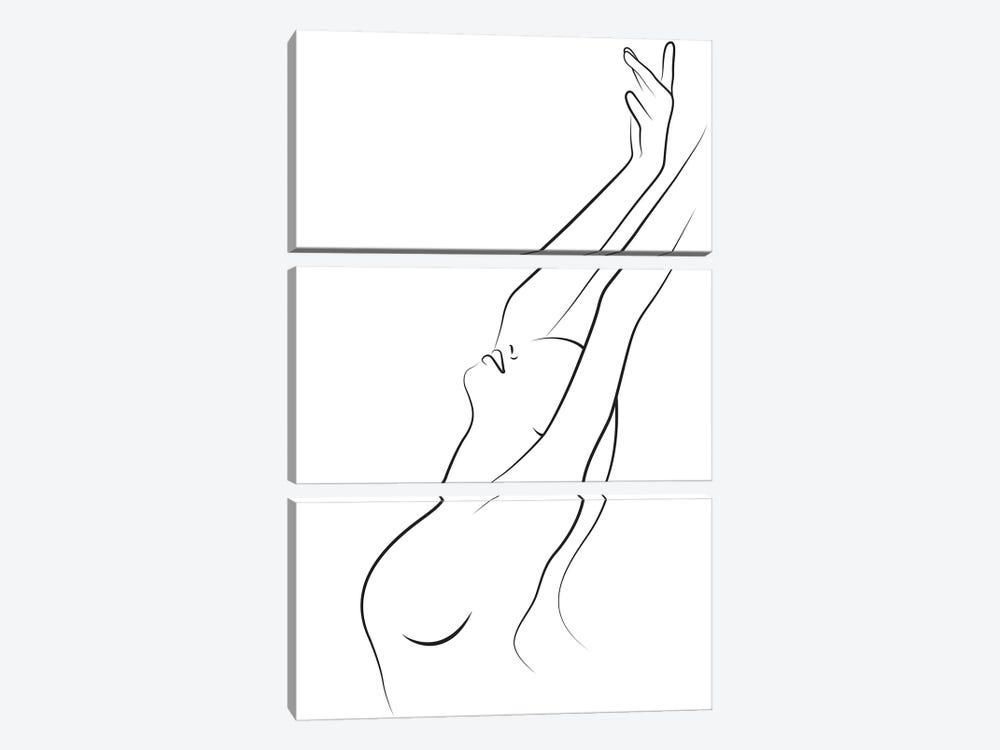 Freedom Breeze by Blek Prints 3-piece Canvas Print