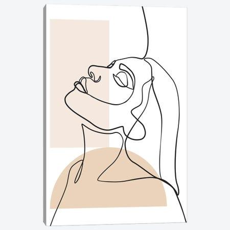 Lines and Shapes Canvas Print #BLP180} by Blek Prints Art Print