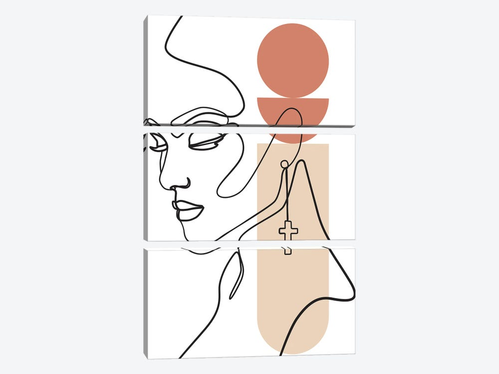 Shapes and Lines by Blek Prints 3-piece Art Print