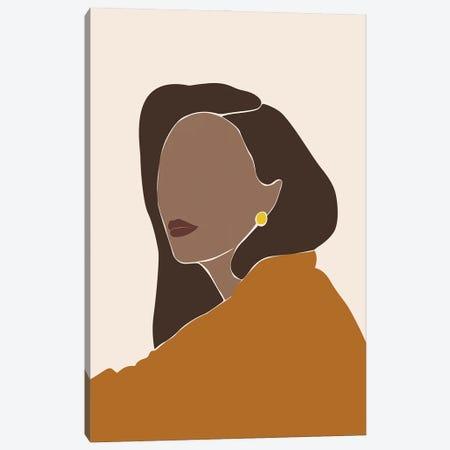 Abstract Woman Portrait Canvas Print #BLP186} by Blek Prints Canvas Artwork