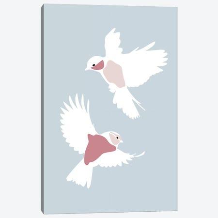 Birds Rectangle Canvas Print #BLP19} by Blek Prints Canvas Art