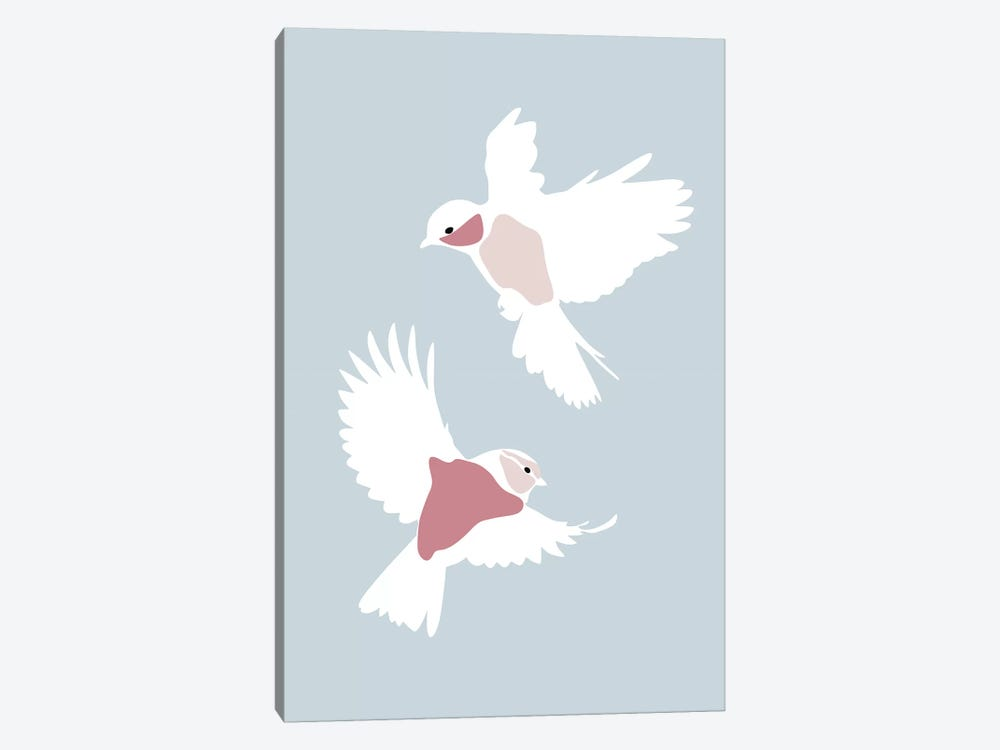 Birds Rectangle by Blek Prints 1-piece Canvas Wall Art