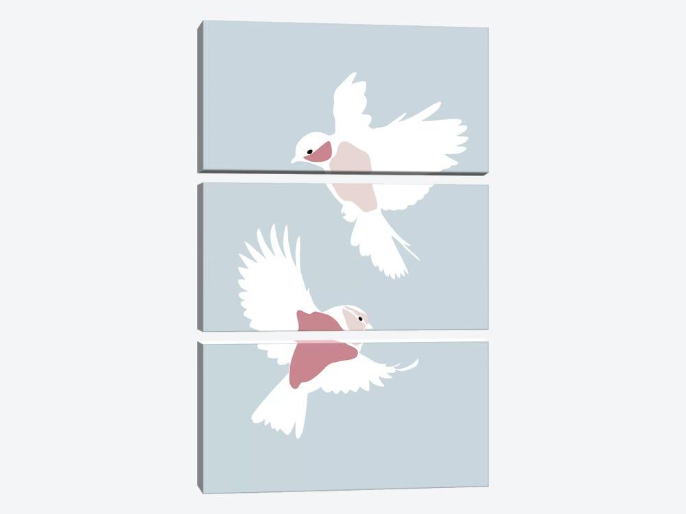 Birds Rectangle by Blek Prints 3-piece Canvas Art