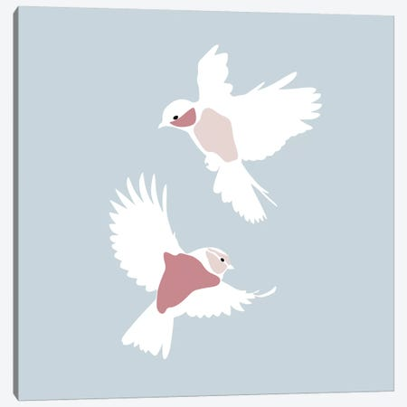 Birds Square Canvas Print #BLP20} by Blek Prints Canvas Print