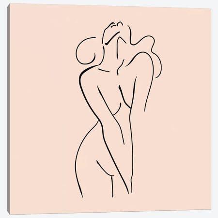 Femme №3 Square Canvas Print #BLP40} by Blek Prints Art Print