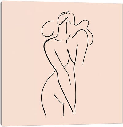 Femme №3 Square Canvas Art Print