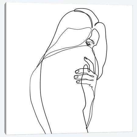 Femme №4 Square Canvas Print #BLP42} by Blek Prints Art Print
