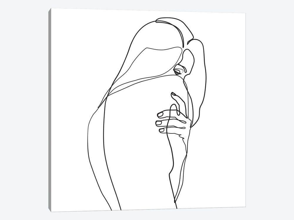 Femme №4 Square by Blek Prints 1-piece Canvas Artwork