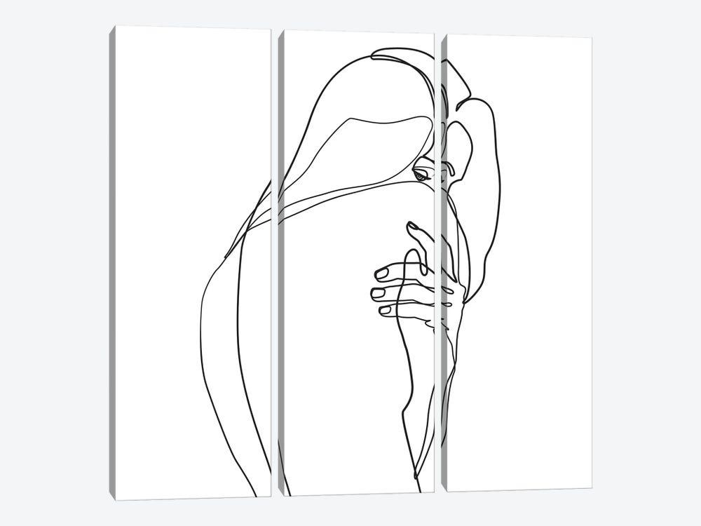 Femme №4 Square by Blek Prints 3-piece Canvas Art