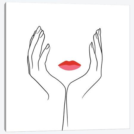 Femme №19 Square Canvas Print #BLP64} by Blek Prints Canvas Art