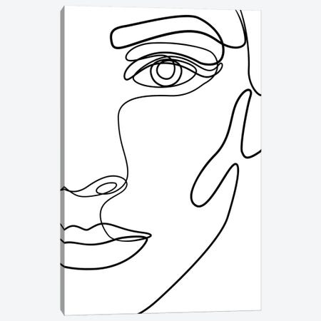 Femme №21 Rectangle Canvas Print #BLP67} by Blek Prints Canvas Art