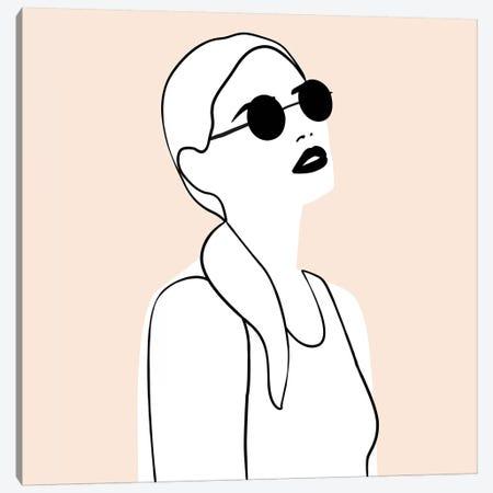 Femme №26 Square Canvas Print #BLP77} by Blek Prints Canvas Print