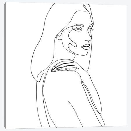 Femme №28 Square Canvas Print #BLP81} by Blek Prints Art Print