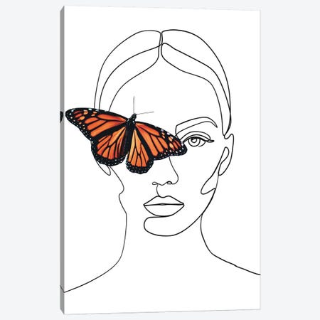 Femme №33 Rectangle Canvas Print #BLP90} by Blek Prints Canvas Artwork