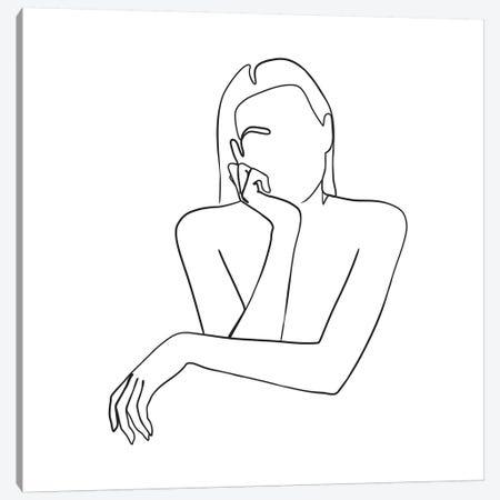 Femme №35 Square Canvas Print #BLP95} by Blek Prints Canvas Art Print