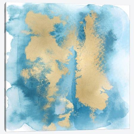 Aqua Mist with Gold II Canvas Print #BLR2} by Bella Riley Canvas Print