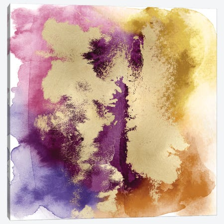 Magical Mist with Gold II Canvas Print #BLR6} by Bella Riley Canvas Art