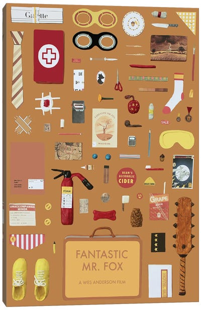 Fantastic Mr Fox As Objects Canvas Art Print