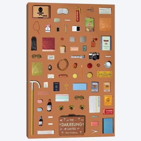 The Darjeeling Limited Objects Canvas Print #BLT12} by Jordan Bolton Canvas Art