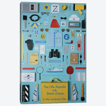 The Life Aquatic With Steve Zissou Objects Canvas Print #BLT13} by Jordan Bolton Canvas Artwork