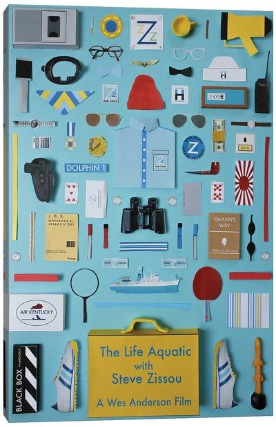 The Life Aquatic With Steve Zissou Objects Canvas Art Print
