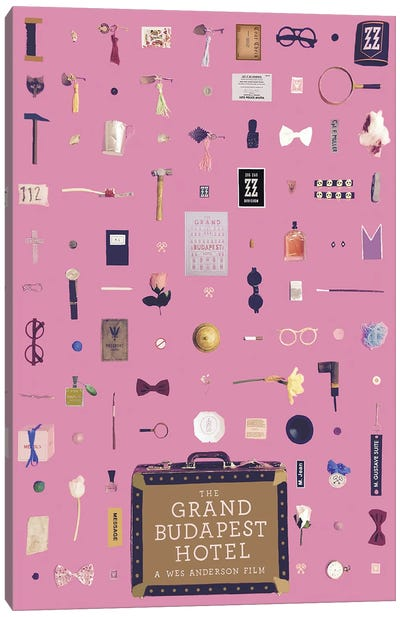 The Grand Budapest Hotel Objects Canvas Art Print