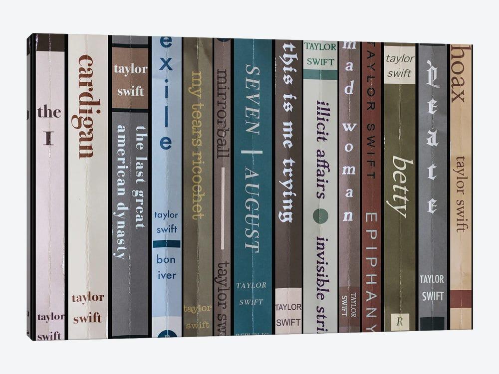 Taylor Swift - Folklore As Books by Jordan Bolton 1-piece Canvas Art Print