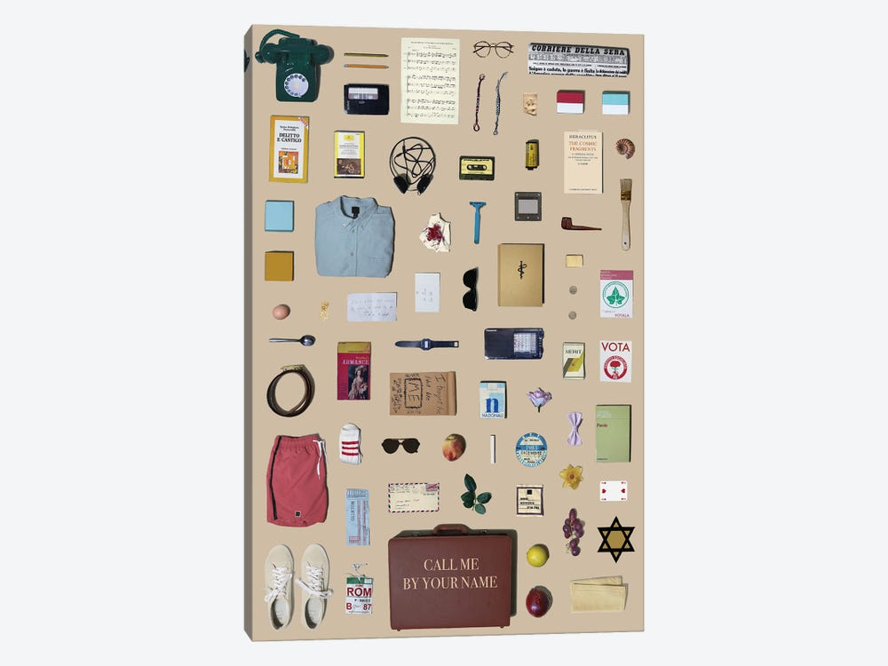 Call Me By Your Name Objects by Jordan Bolton 1-piece Canvas Wall Art
