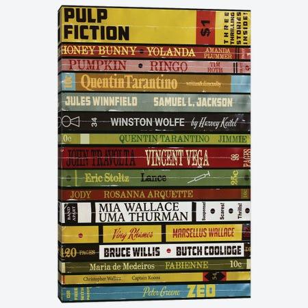Pulp Fiction As Books Canvas Print #BLT23} by Jordan Bolton Canvas Print