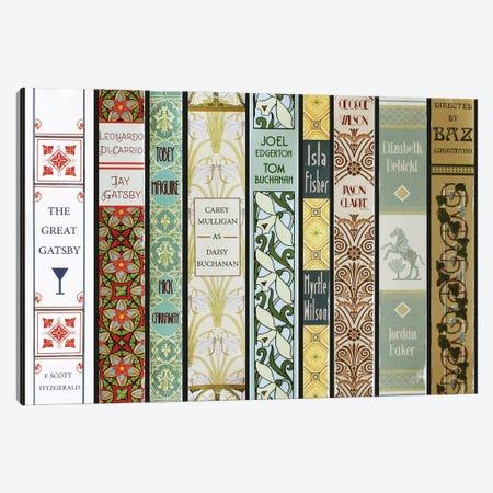 The Great Gatsby (2013) As Books Canvas Print #BLT25} by Jordan Bolton Canvas Artwork