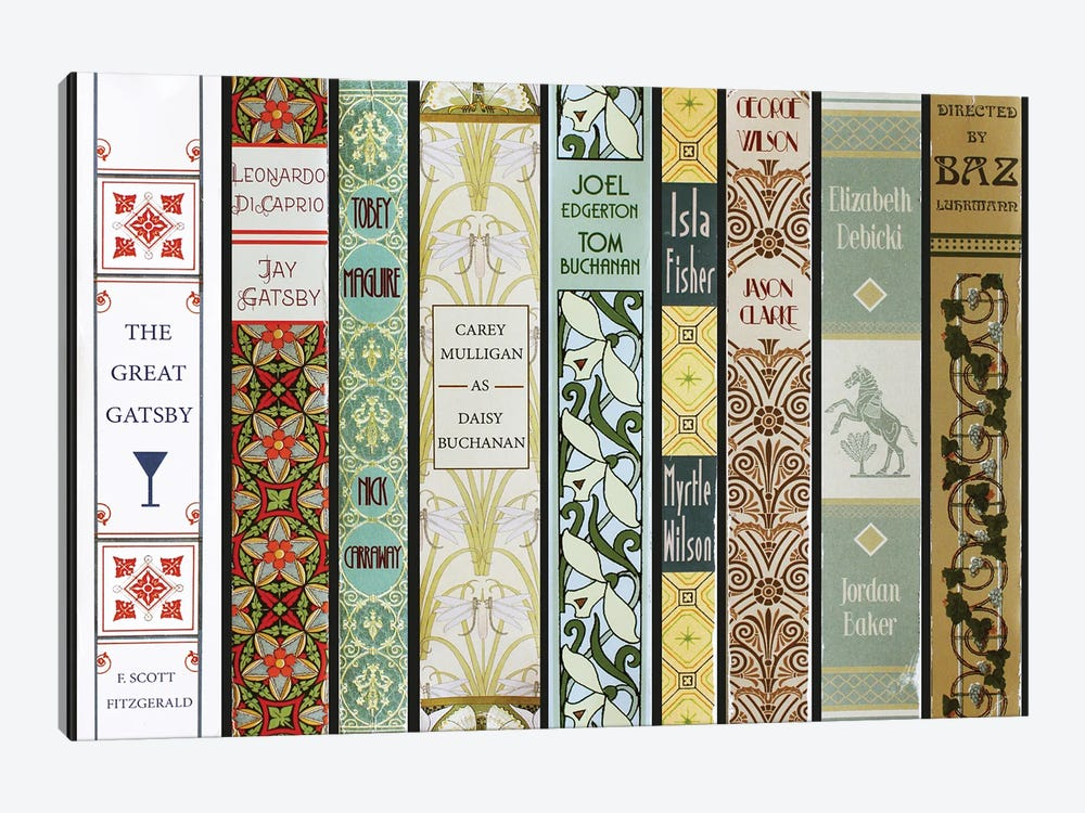 The Great Gatsby (2013) As Books by Jordan Bolton 1-piece Canvas Art