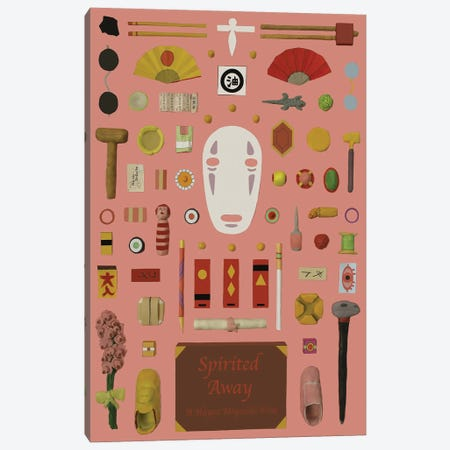 Spirited Away Objects Canvas Print #BLT27} by Jordan Bolton Canvas Wall Art