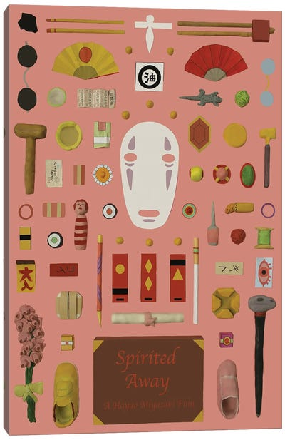 Spirited Away Objects Canvas Art Print