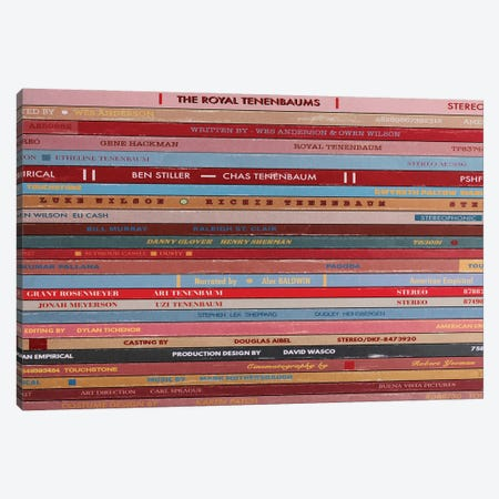 The Royal Tenenbaums As Vinyls Canvas Print #BLT2} by Jordan Bolton Art Print