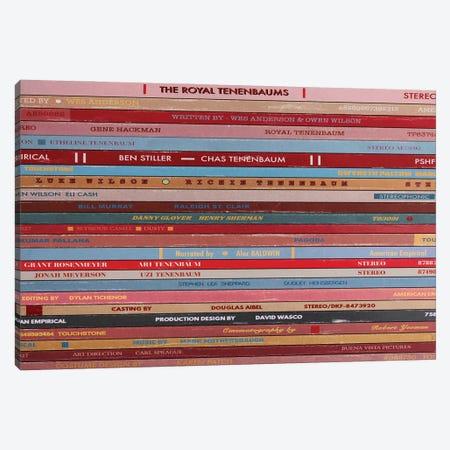The Royal Tenenbaums As Vinyls Canvas Print #BLT2} by Jordan Bolton Art Print