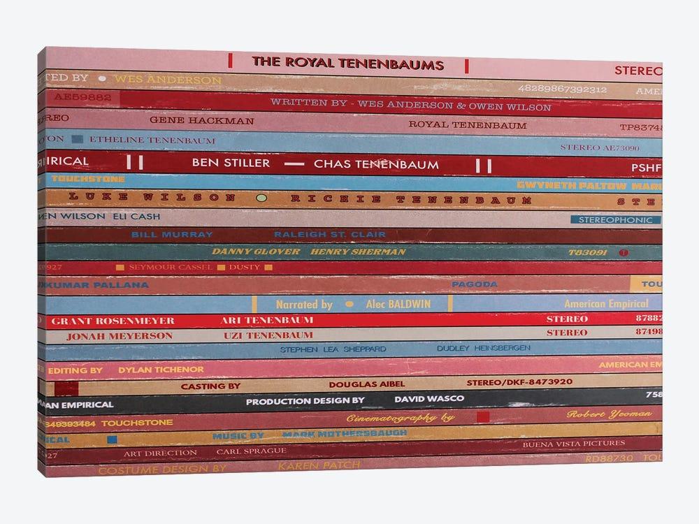 The Royal Tenenbaums As Vinyls by Jordan Bolton 1-piece Canvas Print