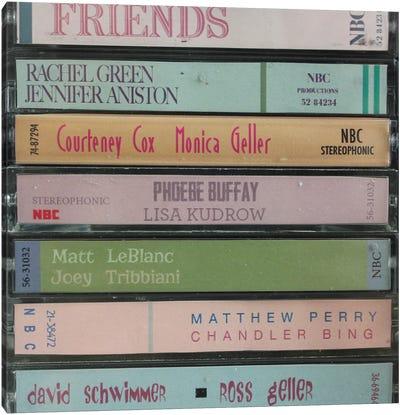 Friends As Cassettes Canvas Art Print
