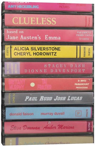 Clueless As Cassettes Canvas Art Print