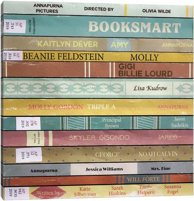 Booksmart (2019) As Books Canvas Art Print