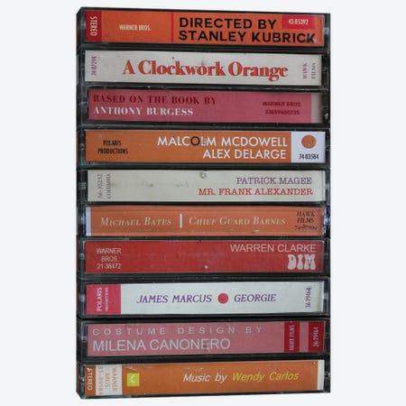 A Clockwork Orange As Cassettes Canvas Print #BLT41} by Jordan Bolton Canvas Art Print