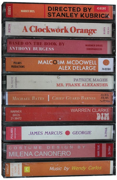 A Clockwork Orange As Cassettes Canvas Art Print