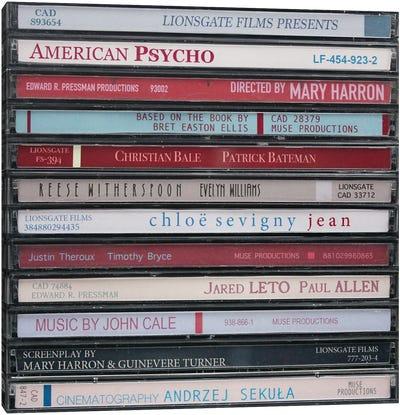 American Psycho As Cds Canvas Art Print
