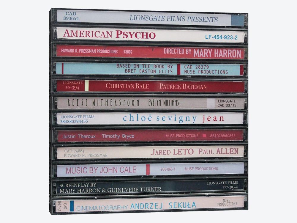 American Psycho As Cds by Jordan Bolton 1-piece Canvas Art Print